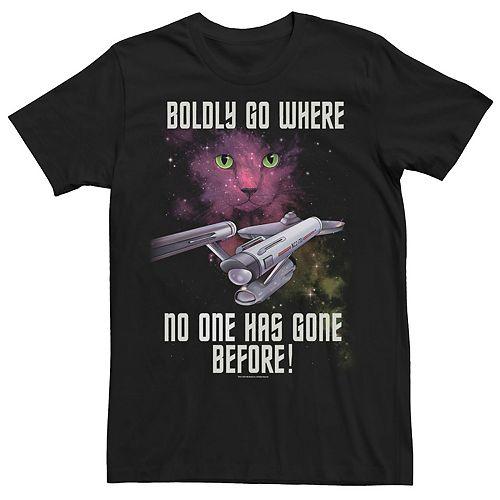 Men's Star Trek Original Series Boldly Go Cat Tee