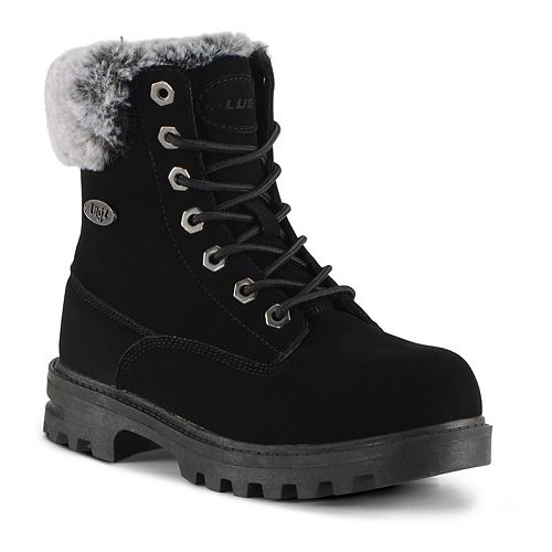 Lugz Empire Hi Faux Fur Grade School Kids' Water Resistant Boots