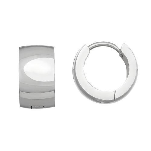 Stella Di Femmex Stainless Steel Huggie Hoop Earrings