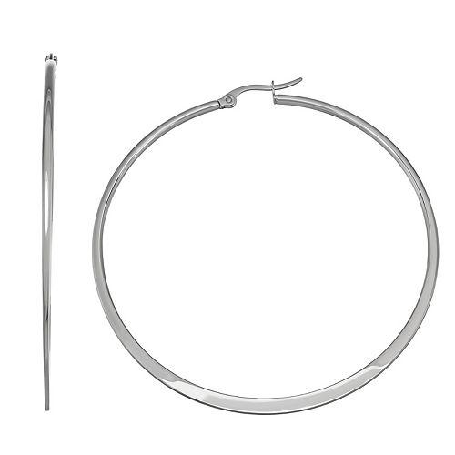 Stella Di Femmex Stainless Steel Hoop Earrings