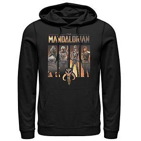 Men's The Mandalorian Character Panel Pullover Hoodie
