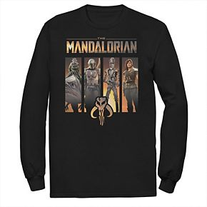 Men's The Mandalorian Character Panel Pullover Tee