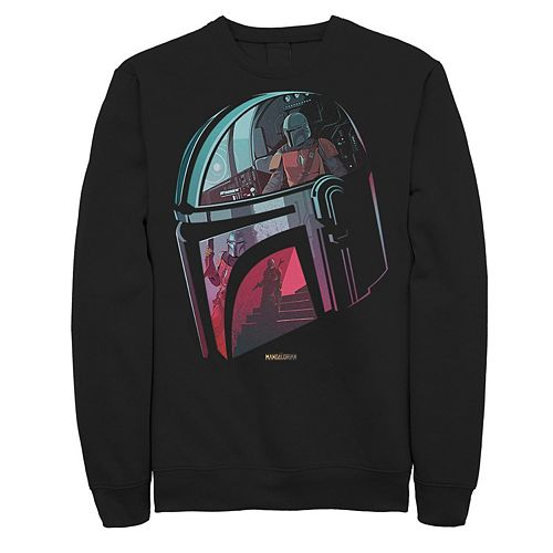 Men's The Mandalorian Helmet Reflection Sweatshirt