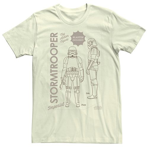 Men's The Mandalorian Stormtrooper Action Figure Tee
