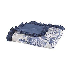 Madison Park Adoette Cotton Printed Ruffle Duvet Cover Set