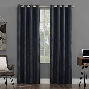 Sun Zero Beck Geometric Ogee Thermal Extreme 100% Blackout Grommet Window Curtain