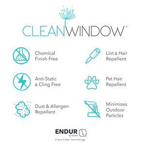 Clean Window Twill Stripe Anti-Dust Semi-Sheer Kitchen Curtain Tier Pair
