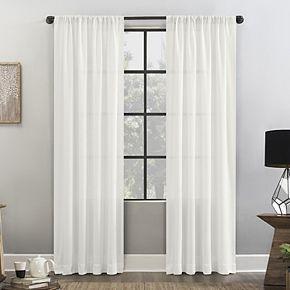 Clean Window Waffle Texture Anti-Dust Semi-Sheer Window Curtain
