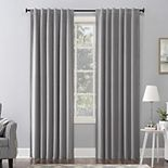 Sun Zero 1-panel Amherst Velvet Thermal Extreme 100% Blackout Back Tab Window Curtain