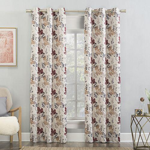 Sun Zero Gabriella Floral Blackout Grommet Curtain Panel