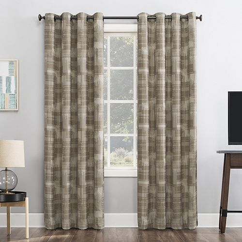 Sun Zero 1-panel Marcus Crosshatch Thermal Extreme 100% Blackout Grommet Window Curtain