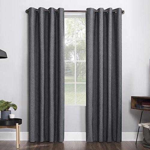 Sun Zero 1-panel Noir Dimensional Thermal Extreme 100% Blackout Grommet Window Curtain