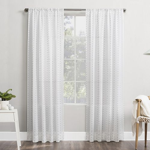 No 918 Petani Clipped Swiss Dots Semi-Sheer Rod Pocket Window Curtain