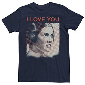 Men's Star Wars Valentine's Day Leia I Love You Tee