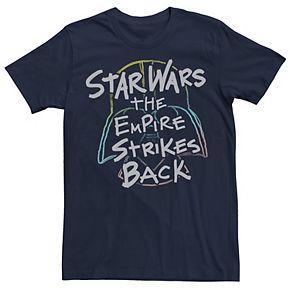 Men's Star Wars Empire Strikes Back Rainbow Vader Helmet Tee