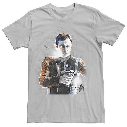 Men's Star Trek Discovery Lorca Sketch Schematic Tee