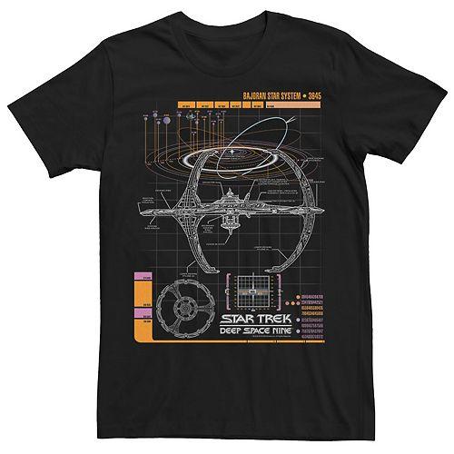 Men's Star Trek DS9 Bajoran System Schematic Tee