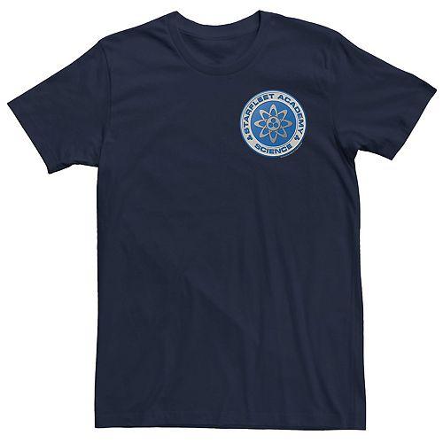 Men's Star Trek Starfleet Academy Science Badge Blue Tee