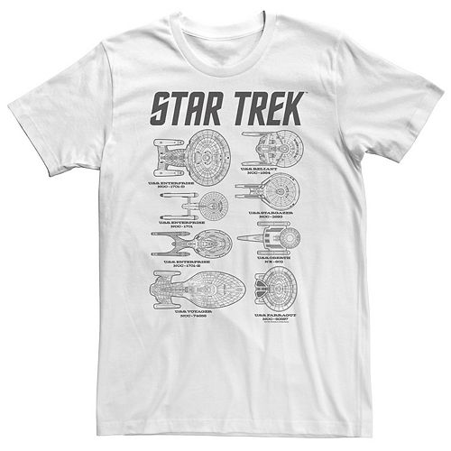 Men's Star Trek Next Generation Ships Of Trek Tee