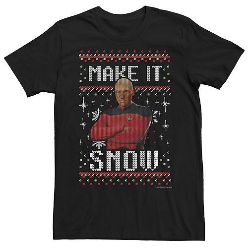 Men's Star Trek Next Generation Make It Snow Tee