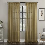 Archaeo Embroidered Border Cotton Blend Sheer Curtain