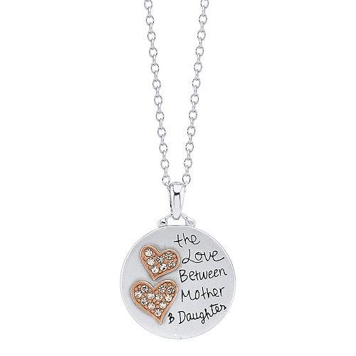 LovethisLife® Two-Tone Heart Pendant Necklace