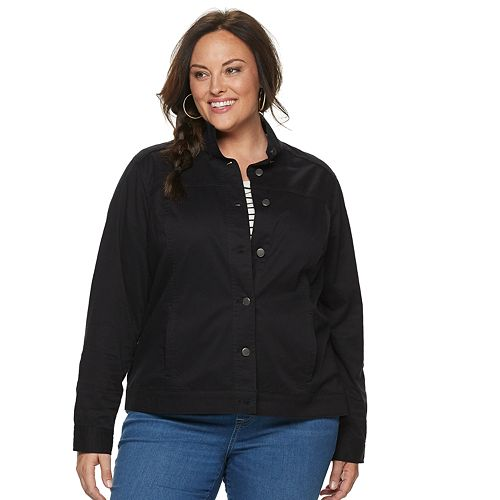 Plus Size Croft & Barrow® Utility Jacket