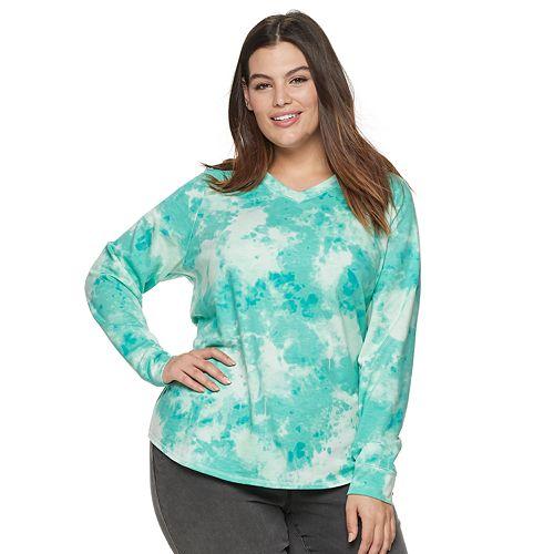 Plus Size EVRI V-Neck Sweatshirt