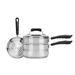 Range Kleen 3-qt. Stainless Steel Double Boiler & Steamer Set