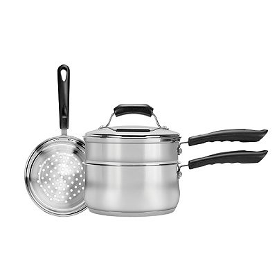 Range Kleen 3-qt. Stainless Steel Double Boiler and Steamer Set