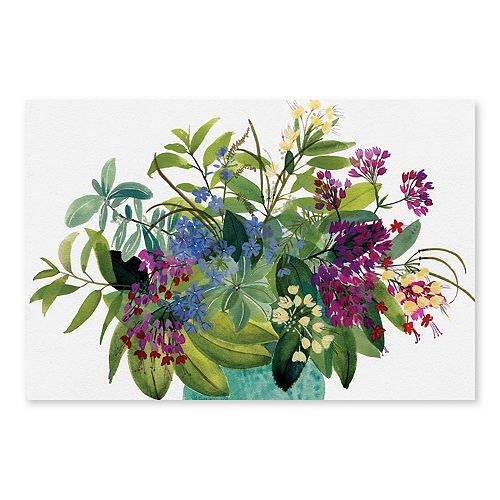 Artissimo Designs West Indies Bouquet Wall Art