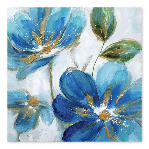 Artissimo Designs Flowering Blues II Wall Art