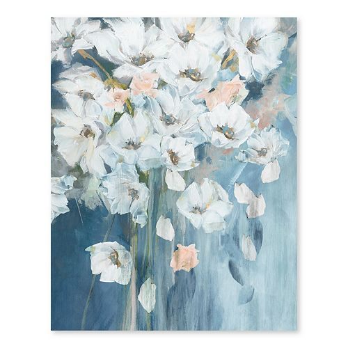Artissimo Designs Bouquet of White Poppies Wall Art
