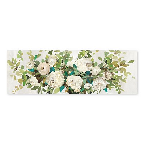 Artissimo Designs White Roses Wall Art