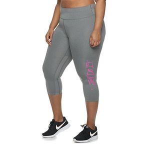 Plus Size Nike One 3/4-Length Training Tights