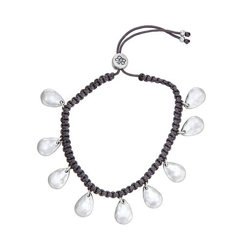 Bella Uno Teardrop Disc Adjustable Bracelet