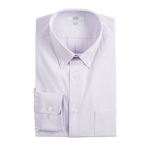 Big & Tall Croft & Barrow® Easy-Care Button-Down Collar Dress Shirt