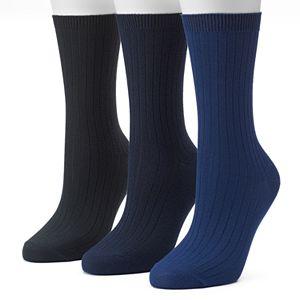 Women's Sonoma Goods For Life? 3-pk. Marled Ribbed Crew Socks