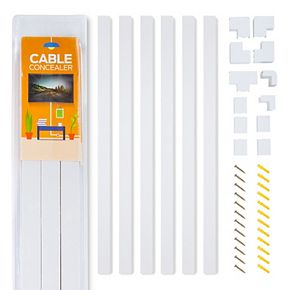 Church Supply 6-Cable Concealer On-Wall Cable Management Raceway Kit
