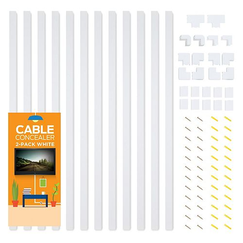 Church Supply 12-Cable Concealer On-Wall Cable Management Raceway Kit
