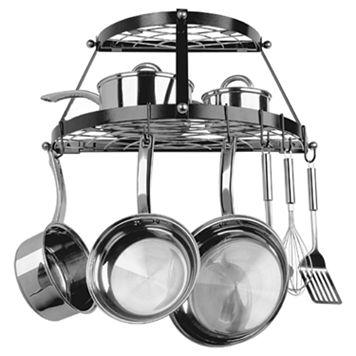 Range Kleen 2-Shelf Wrought Iron Pot Rack
