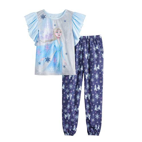 Girls 4-8 Disney's Frozen 2 Elsa Top & Bottom Pajama Set