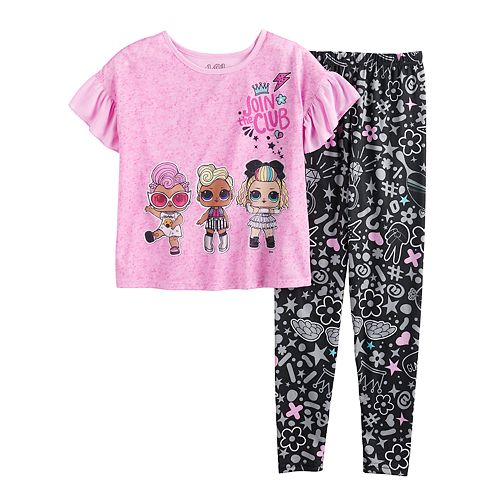 Girls 4-10 L.O.L. Surprise! Top & Bottom Pajama Set