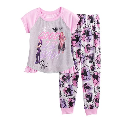 Girls 6-14 Disney's Descendants Top & Bottom Pajama Set