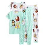 Girls 4-8 Disney Princesses Tops & Bottoms Pajama Set (4-piece set)