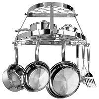 Range Kleen 2-Shelf Semi-Circle Wall-Mounted Pot Rack