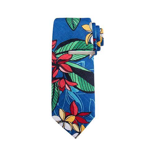 Men's Apt. 9® Floral Skinny Tie with Tie Bar