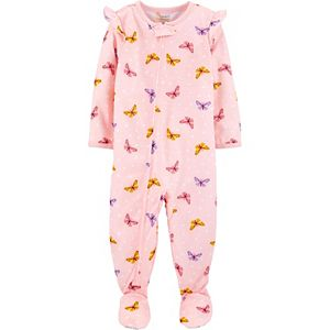 Baby Girl Carter's Flutter Butterfly Footed Pajamas
