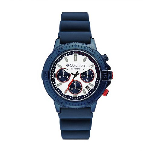 Columbia Men's Peak Patrol Chronograph Navy Silicone Watch - CSC03-006