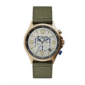 Columbia Men's Canyon Ridge Stone Chronograph Olive Nylon Watch - CSC02-004